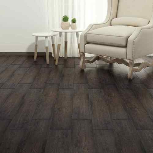 Self Adhesive Pvc Flooring Planks Black Brown Dark